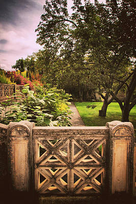 Photograph - The Walled Garden Gate by Jessica Jenney