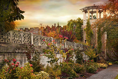 Digital Art - The Walled Garden In Autumn by Jessica Jenney