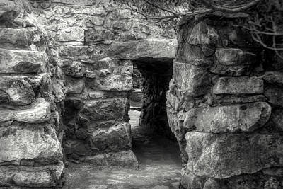 Photograph - The Walls Of Tulum B/w by Wes Jimerson