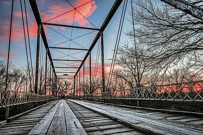 Photograph - The Walnut River Bridge by Kyle Findley