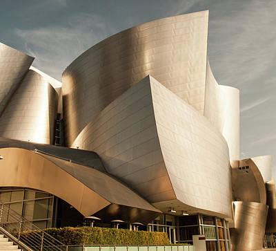 Phong Trinh Photograph - The Walt Disney Concert Hall In La by Phong Trinh