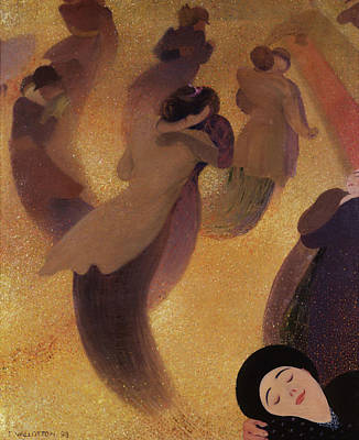 Dance Floor Painting - The Waltz by Felix Vallotton