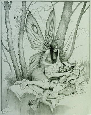 Drawing - The Wanting And Giving Of Wings by Jim Thiesen