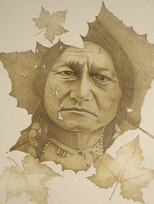Art Print featuring the drawing The War Chief by Tim Ernst