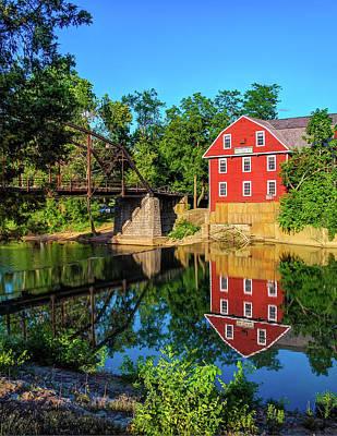 Bridge Photograph - The War Eagle Arkansas Mill And Bridge Vertical - Northwest Arkansas by Gregory Ballos
