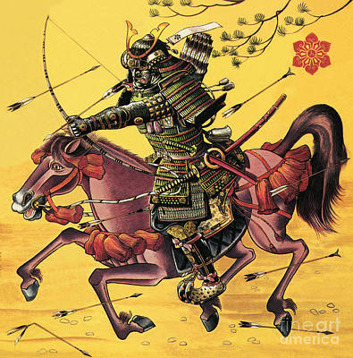 Horse Painting - The War Lords Of Japan by Dan Escott