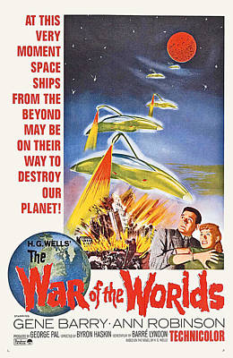 1953 Movies Photograph - The War Of The Worlds, Bottom From Left by Everett