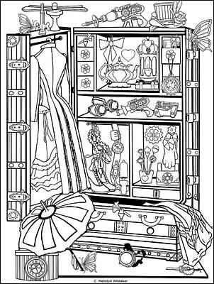 Drawing - The Wardrobe by Melodye Whitaker