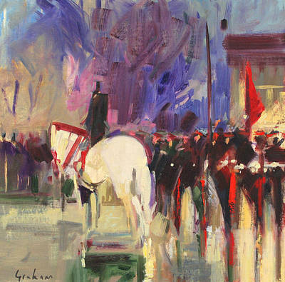 Attention Painting - The Warhorse  Sandhurst by Peter Graham