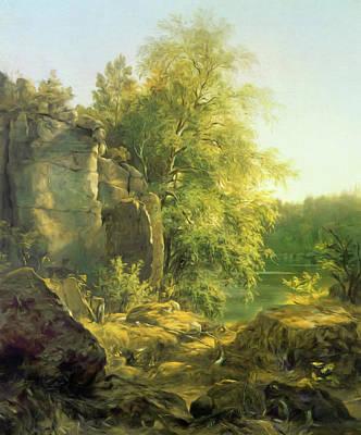 The Trees Mixed Media - The Warmth Of The Sun by Georgiana Romanovna
