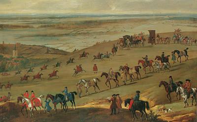 Race Horse Painting - The Warren Hill Newmarket  by John Wootton