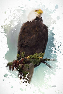 Painting - The Warrior - Eagle Art by Jordan Blackstone