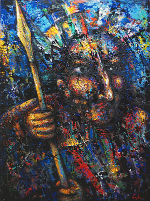 Painting - The Warrior  by Hayk Matsakyan