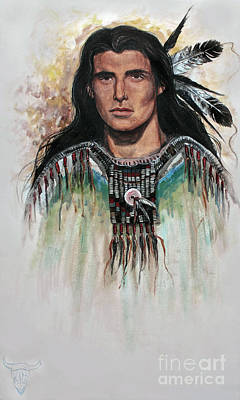 All Cowboy Painting - The Warrior by Kim Marshall