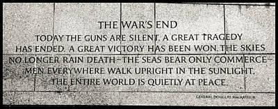 Photograph - The War's End....... by Allen Beatty