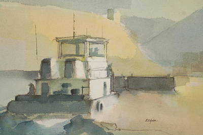 Tugboats Painting - The Wash by Robert Yonke