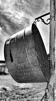 Photograph - The Wash Tub In Black And White by Susan Bordelon