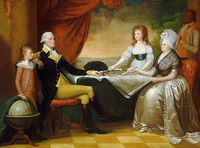 Globe Painting - The Washington Family by Edward Savage