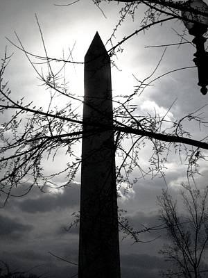 The Washington Monument - Black And White Art Print