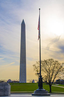 Washington Monument Digital Art - The Washington Monument In The Morning by Bill Cannon