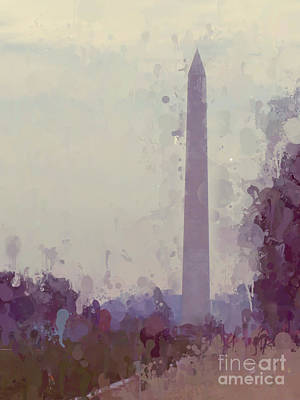 Photograph - The Washington Monument by Kerri Farley