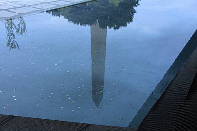 Photograph - The Washington Monument's Reflection In A Pool Of Calming Water At The National African American Mus by Cora Wandel