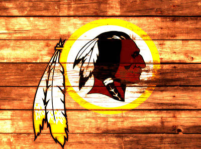 Manley Mixed Media - The Washington Redskins 3a by Brian Reaves