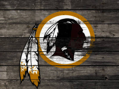 Manley Mixed Media - The Washington Redskins 3c by Brian Reaves