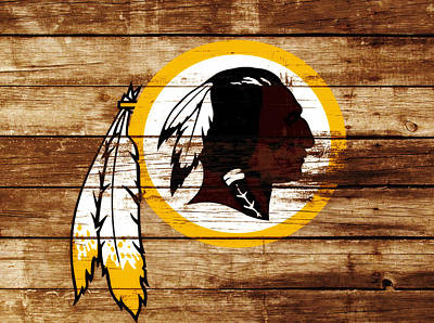 Manley Mixed Media - The Washington Redskins 3f by Brian Reaves