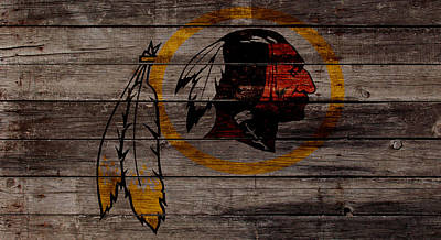 Saint Louis Mixed Media - The Washington Redskins W1 by Brian Reaves