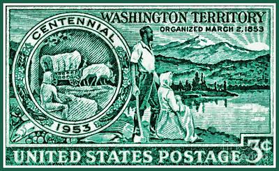 The Washington Territory Stamp Art Print