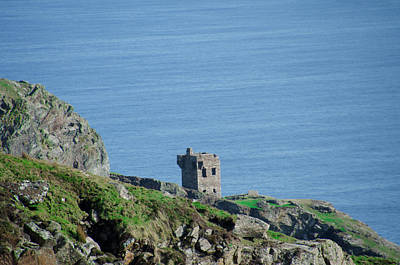 Slieve League Photograph - The Watch Tower At The Slieve League - Donegal Ireland by Bill Cannon