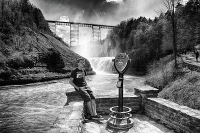 Photograph - The Watcher At Letchworth by Marvin Borst