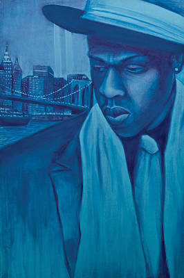 Jay Z Painting - The Watcher by Derek Donnelly