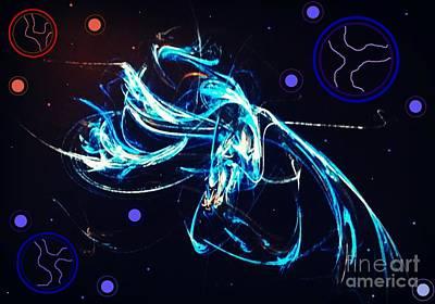 Digital Art - The Watcher by Diamante Lavendar