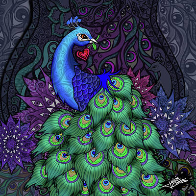 Drawing - The Watcher by Julie Oakes