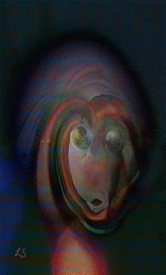 Dart Digital Art - The Watcher by Linda Sannuti
