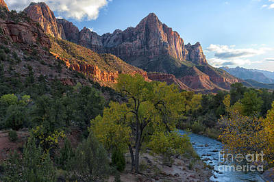 Photograph - The Watchman And Virgin River by Sandra Bronstein