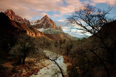 Photograph - The Watchman At Sunset by Daniel Woodrum