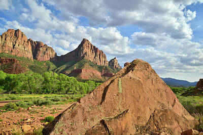 Photograph - The Watchman Entrance by Ray Mathis