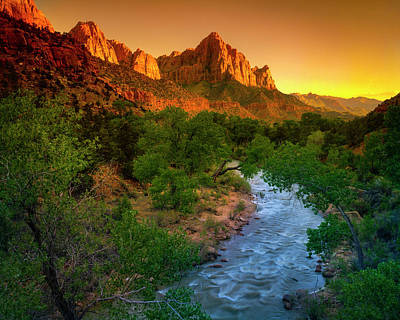 Photograph - The Watchman Sunset by Mark Miller