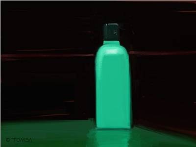 Digital Art - The Water Bottle by Bill Tomsa