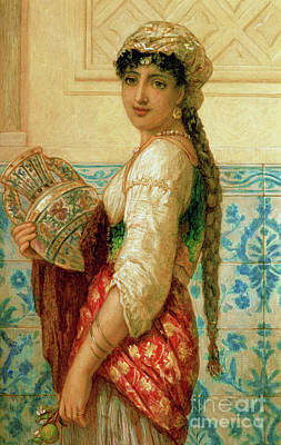 Turkish Painting - The Water Carrier by Augustus Jules Bouvier