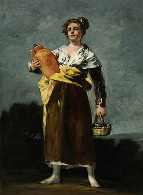 Water Jug Painting - The Water Carrier  by Francisco Goya