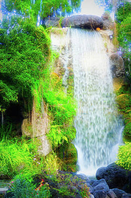 Photograph - The Water Falls by B Wayne Mullins
