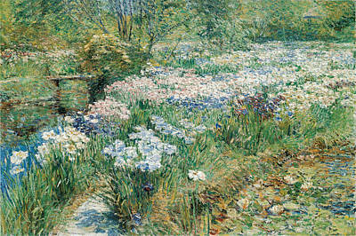 Childe Photograph - The Water Garden by Childe Hassam