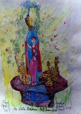 Drawing - The Water Goddess by Barb Greene mann