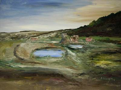 The Water Hole Ranch Art Print by Edward Wolverton
