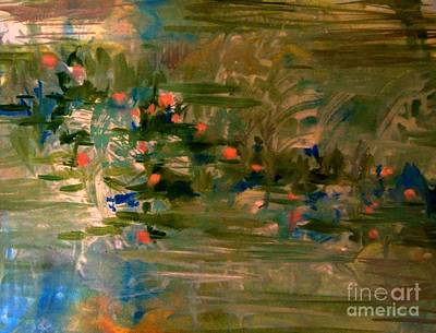 Painting - The Water Lilies 2 by Nancy Kane Chapman