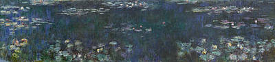 Waterlilies Painting - The Water Lilies, Green Reflections by Claude Monet